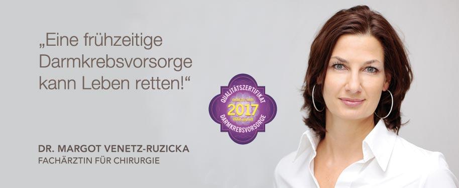 Endo Zentrum Wien - Dr. Margot Venetz-Ruzicka - Eine frühzeitige Darmkrebsvorsorge kann Leben retten!