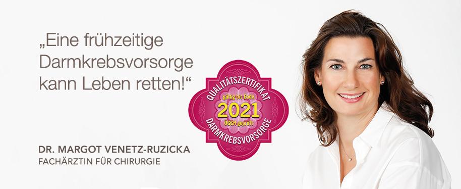 Endo Zentrum Wien - Dr. Margot Venetz-Ruzicka - ÖGGH zertifiziert für die Vorsorgekoloskopie